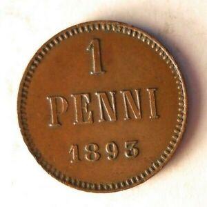 1893-Finlandia-Penni-Excelente-Moneda-Ganga-Bin-147