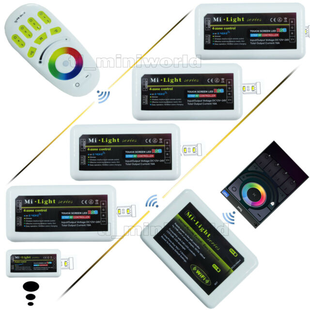 2.4G WiFi RF Touch Remote wireless Smart Phone MiLight RGB led Controller Dimmer