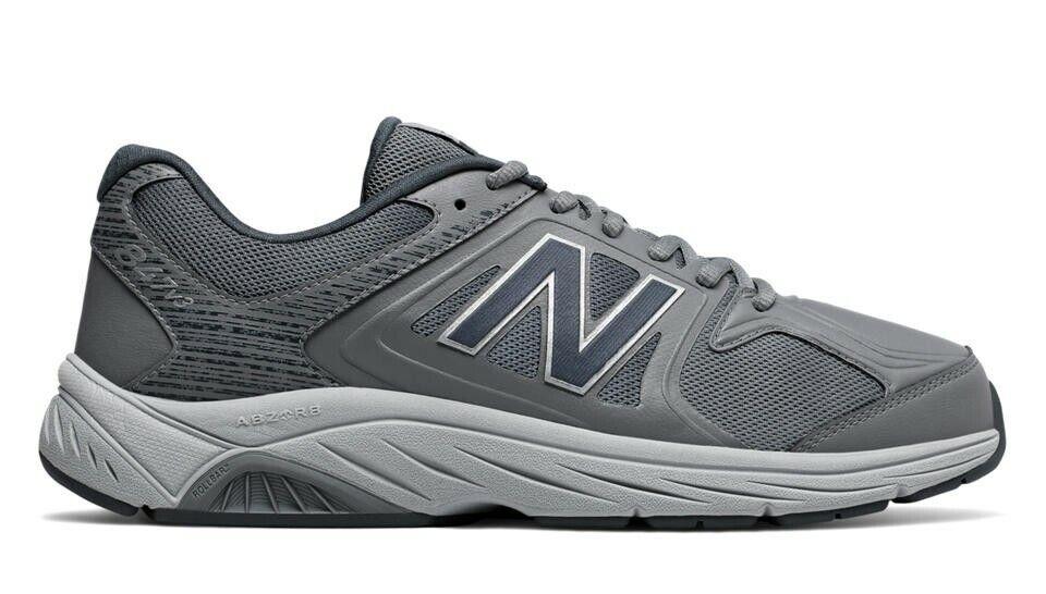 New Balance 847v3 Mens grigio Wide Trainers Running Walking scarpe da ginnastica scarpe MW847GY3