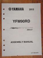 Genuine Yamaha 2013 Raptor90 Assembly Manual Atv 4 Wheeler