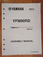 GENUINE YAMAHA 2013 RAPTOR90 ASSEMBLY MANUAL ATV 4 WHEELER  NEW