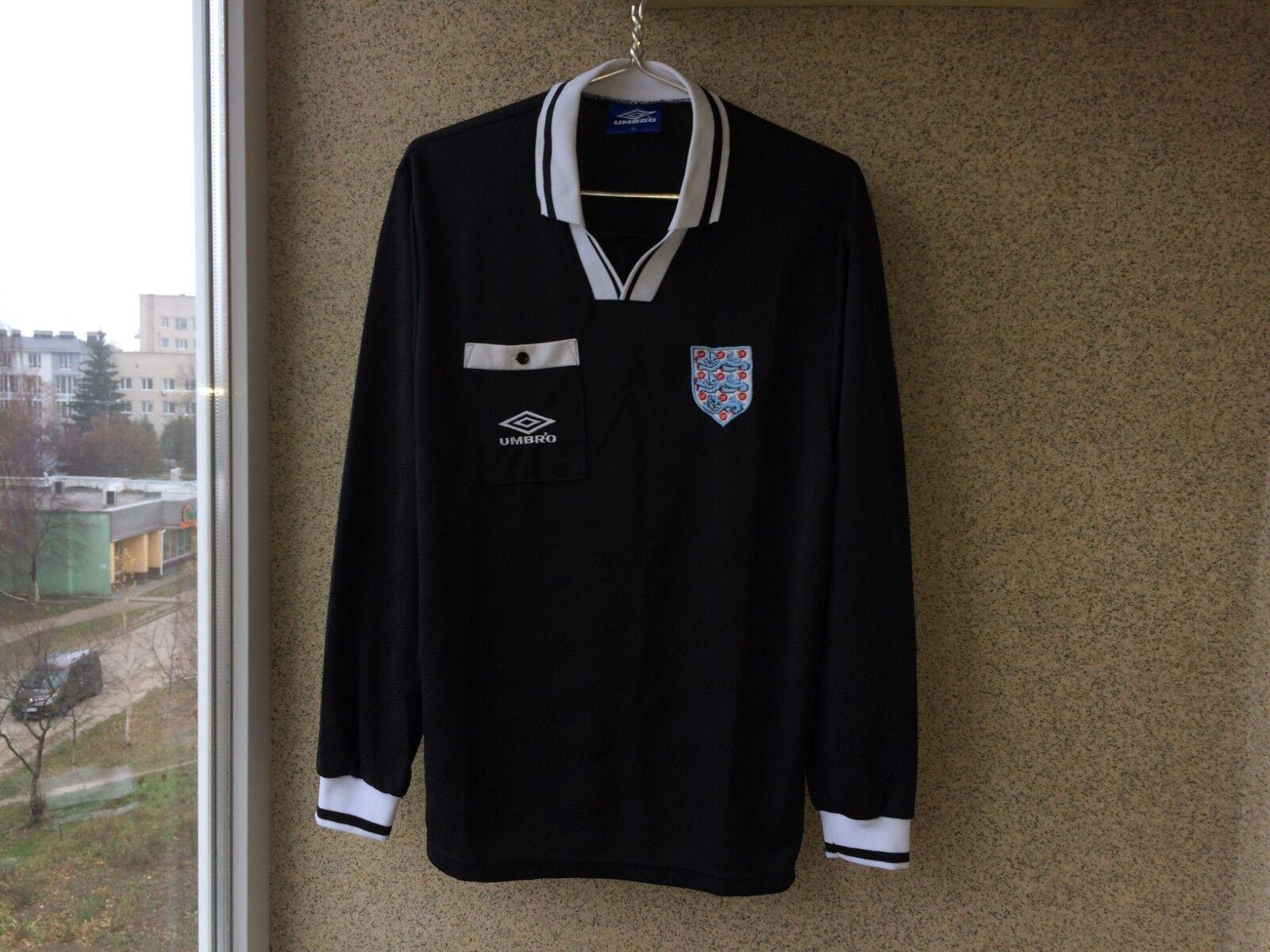 Football League 1998 2000 Umbro Referee Shirt XL OLD Soccer Camiseta long Sleeve
