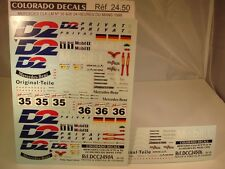 """DECALS 1/24 MERCEDES CLK LM #35 ET #36 """" D2 """" LE MANS 1998 - COLORADO  2450"""