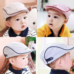 Child Baby Kids Striped Beret Cap Boy Girl Infant Toddler Peaked ... a5260f2b5d1