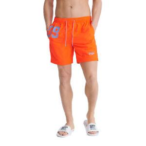 Superdry-Herren-Waterpolo-Swim-Short-Schwimmhose-Badeshorts-M3010018A-orange