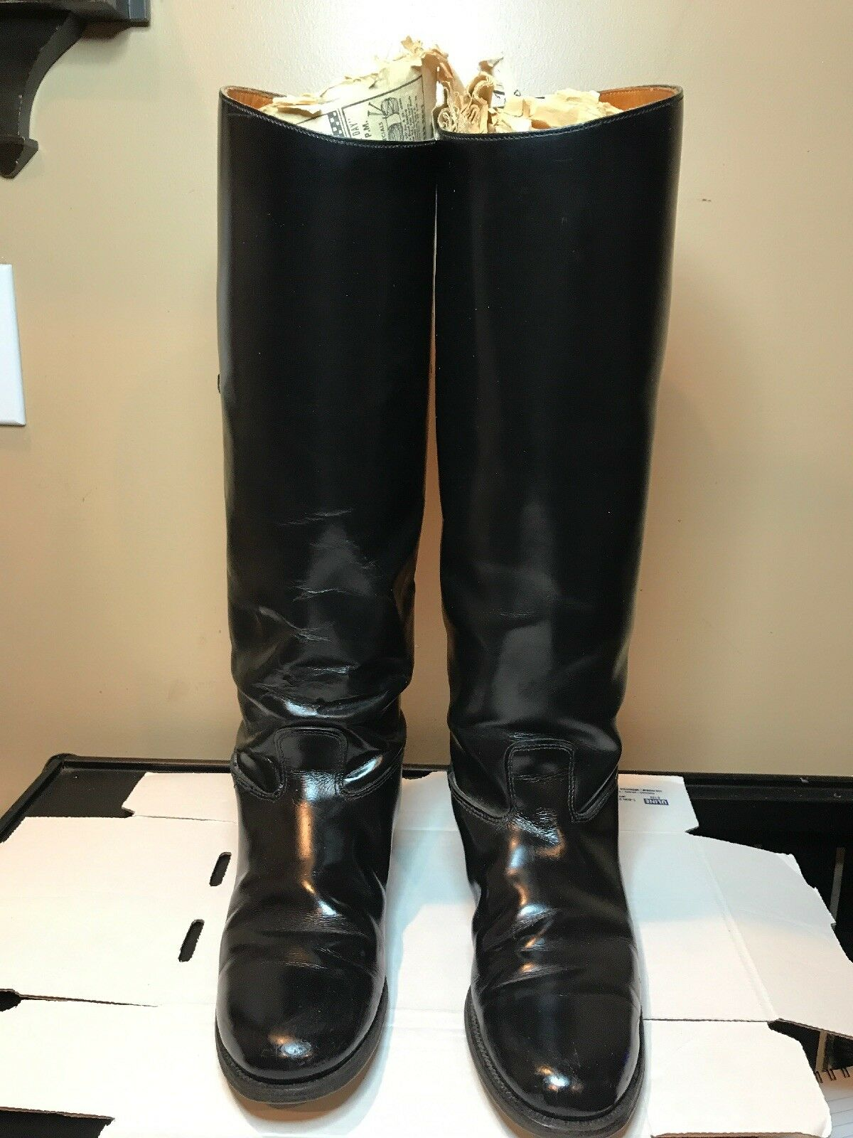 Vintage donna's Leather stivali.Equestrian StyleDimensione 8. At Least 50 Years Old