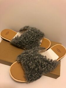 c75dd1136cc Details about Ugg Australia Women's Joni Slide Curly Sheepskin Slippers  Sandals Size 9.5 New.