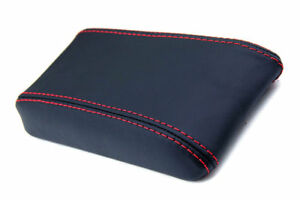 Center Console Armrest Real Leather Cover for Toyota Celica 82-86 Red Stitch