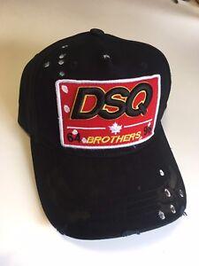 New Dsquared Distressed Brothers DSQ2 Dsquared2 Baseball Cap - UK ... a3e7af65b77