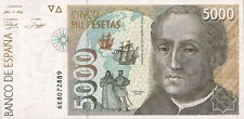Spanien / Spain 5.000 Pesetas 1992 Pick 165 (1) Columbus