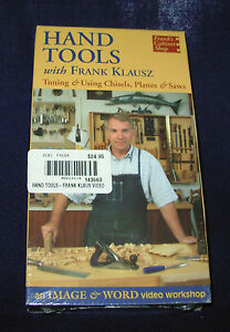 new-VHS-Hand-Tools-tune-amp-use-chisel-plane-saw-video-tape-Frank-Klausz-60min-039-99