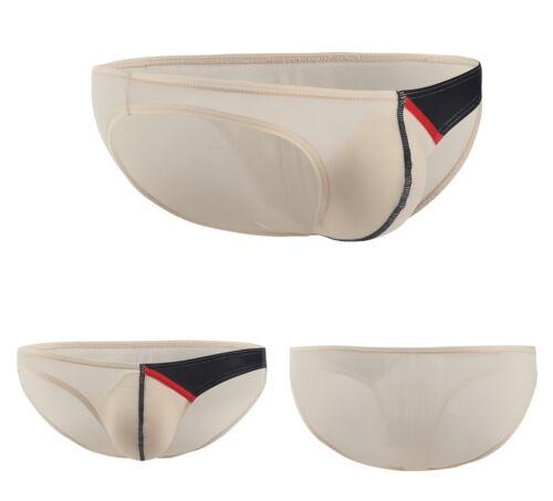 Men Ice Silk Mini Boxer Briefs Underwear Comfortabl Bulge Pouch Bikini Beachwear