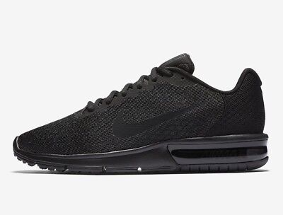 Nike Air Max Sequent 2 Mens Trainers Triple Black Multiple Sizes New RRP £100.00 | eBay