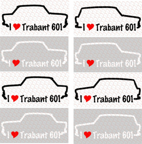 Aufkleber I love Universal Trabi Trabbi Trabant 601 my