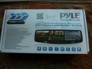 PYLE Mirror-4-in-1 GPS Navigation System, Bluetooth Receiver, Camera and Monitor