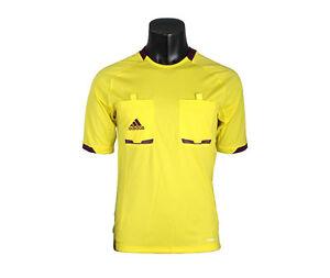 online store 32d4b 40d9f Details about Adidas Referee Jersey X19636 Soccer Football S/S L/S Shirt  Top Yellow Uniform