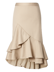 Banana Republic Women\u2019s Size 4 Blue and Beige dressy skirt