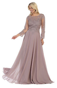 Details about SPECIAL OCCASION LONG GOWNS MOTHER OF THE BRIDE FORMAL  EVENING DRESS & PLUS SIZE