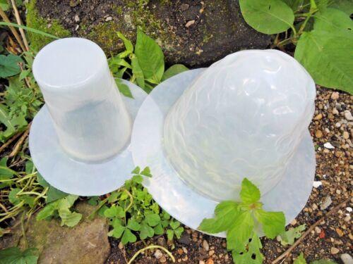 "Poly plastic 2 piece mushroom garden mold plaster concrete mould 9.5/""H x 6/"" W"