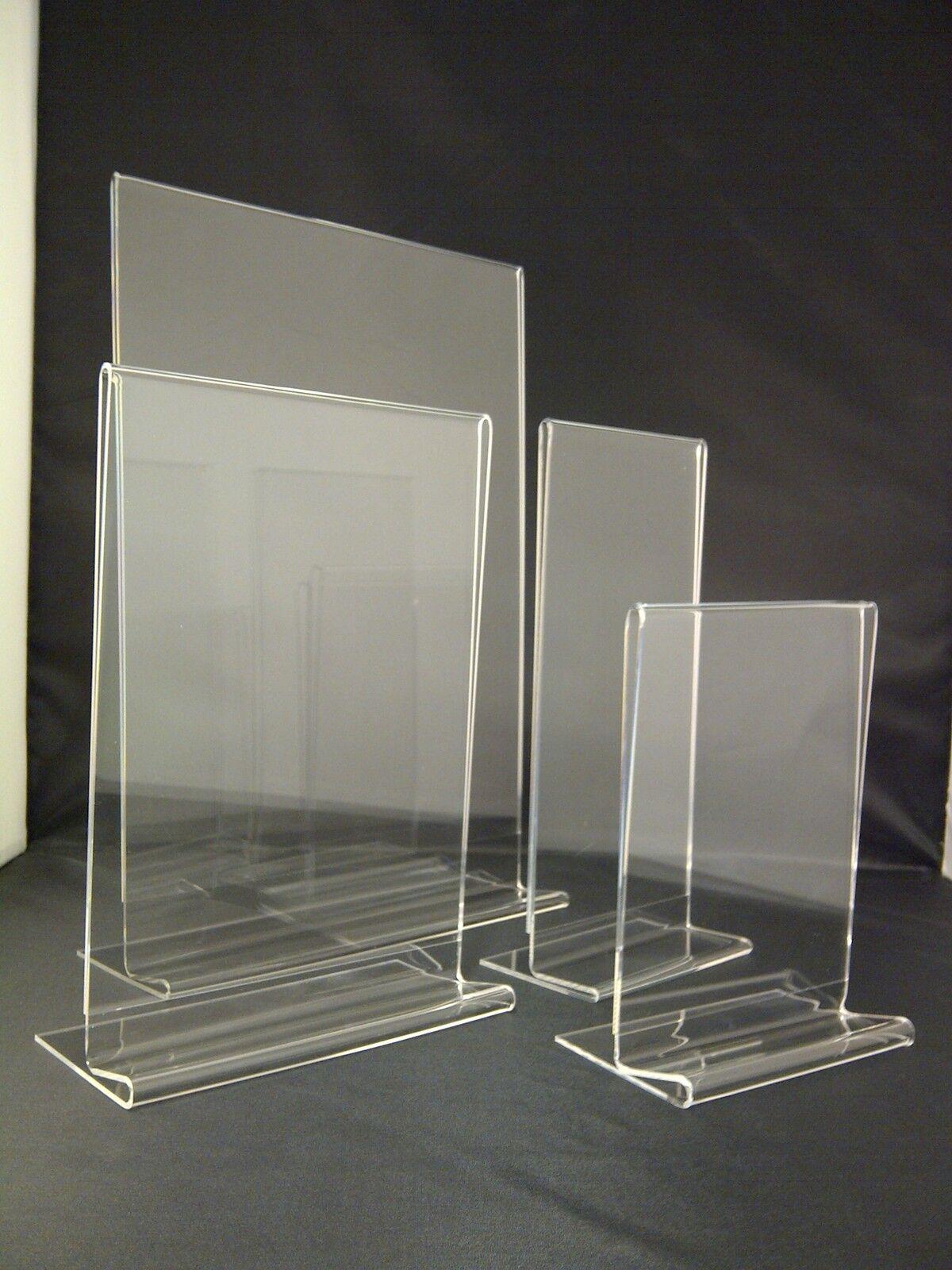 Sign Print & Menu Holders Acrylic Perspex Plastic Stands