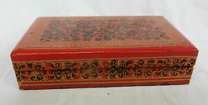 Vintage-Kashmir-Lacquer-Hand-Made-and-Decorated-Box