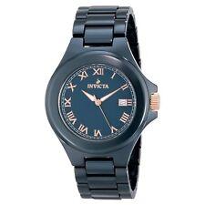 New Mens Invicta 14579 Blue Ceramic Bracelet Watch