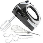 Food Electric Whisk Blender Beater VonShef 5 Speed Black Hand Held Aid Mixer