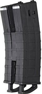 Tippmann-TMC-Paintball-Gun-Marker-Tru-Feed-Magazine-Mag-2-Pack-Black-w-Coupler