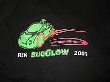 XL a VW UF0 ALIEN  VINTAGE T-Shirt 2001 NEW ROSWELL NM GLOW IN THE DARK Beetle