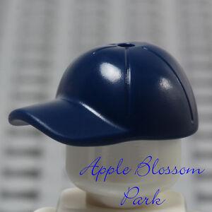 f809ddef321 NEW Lego Minifig Dark BLUE BASEBALL CAP Boy Girl Minifigure Sports ...