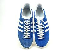 MENS ADIDAS GAZELLE OG BLUE CLASSIC CASUAL SUEDE LACE UP TRAINERS SIZE 8 FADED