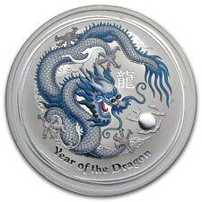 2012 1 oz Silver Australian White Dragon Lunar Coin Direct From Mint Roll