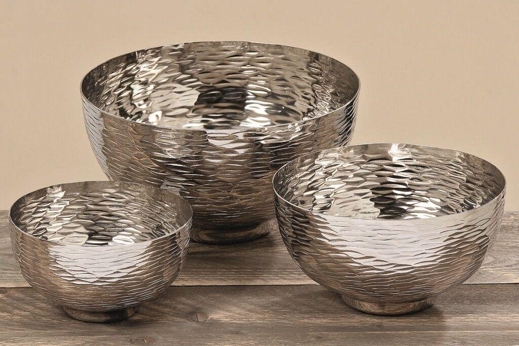 3 x Edle Deko Deko Deko Schalen Ties im Set Aluminium silber-optik Geschenk Dekoration | Sale Online  9ab52f