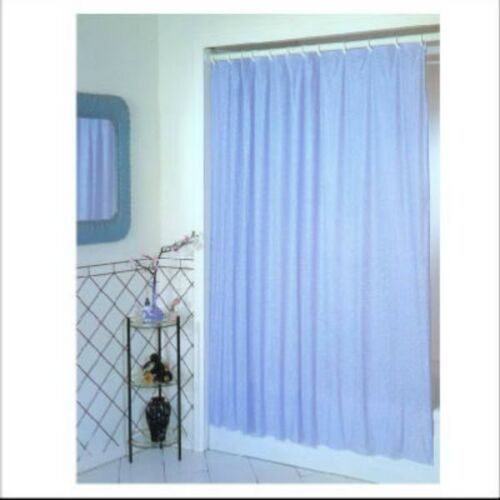 "Ex-Cell 1ME-040O0-0470-431 PEVA Glitter Shower Curtain 70/"" x 72/"" Light Blue"