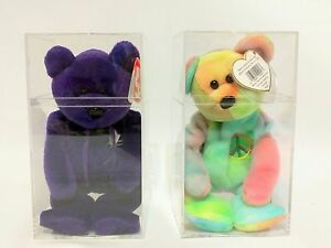 1df960c37d5 Princess Diana   Peace Bear Ty Beanie Baby - 1st Editions - No Red ...