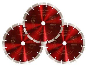 3-X-230-Diamanttrennscheibe-Diamantscheibe-Beton-12-mm-Segmenthoehe-USSV12