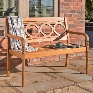 Stupendous Details About Wooden Garden Bench Patio 2 Seater Sofa Balcony Vintage Chair Outdoor Furniture Caraccident5 Cool Chair Designs And Ideas Caraccident5Info