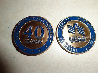 Challenge Coin Usaa Membership 40 Years Thank You For Service