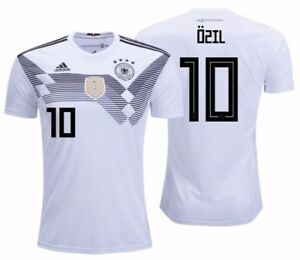 sports shoes b7005 86da9 Details about ADIDAS MESUT OZIL GERMANY HOME JERSEY WORLD CUP 2018  White/Black.