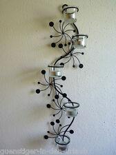 Edler Wandteelichthalter Wandkerzenhalter Kerzenhalter Wanddeko 5 Gläser WEISS