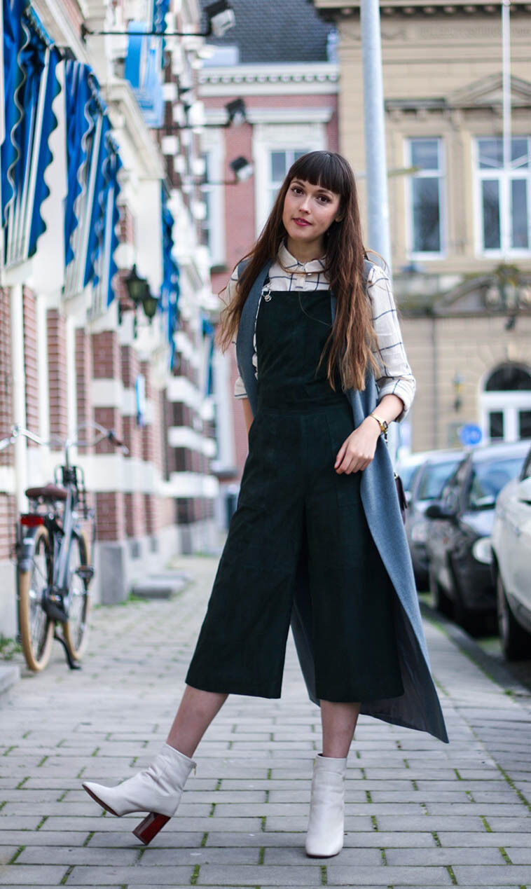 Topshop Premium Suede Forest Green Culotte Jumpsuit Real Leather BNWT