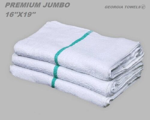 60 new green stripe premium grade bar mop mops restaurant cleaning towel 34oz