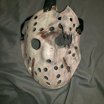 Custom made Vooden Friday the 13th Jason Hockey Mask Jason Voorhees Hockey Mask Cosplay Jason Voorhees  Friday the 13 Jason