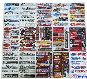 Lot 15 Sheets Mixed Rc Jdm Style Mini Car Sticker Decals Kit Jx159