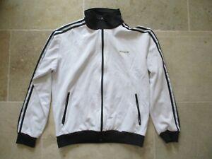 Veste-ADIDAS-retro-vintage-blanc-trefoil-gold-or-jacket-giacca-XL