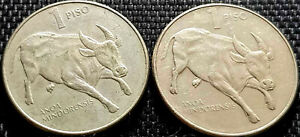 1985-Philippines-One-Piso-coin-2pcs-F-FREE-1-coin-D7955