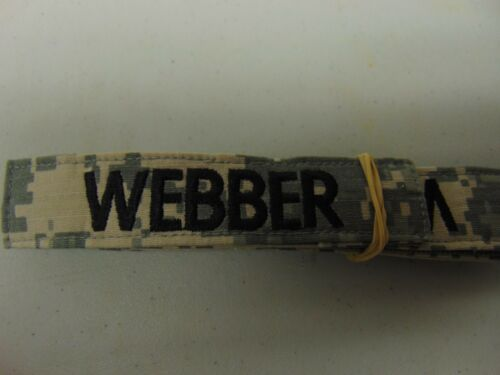 MILITARY US ARMY PATCH FOR ACUS DIGITAL HOOK AND LOOP BACK NAME TAPE WITH WEBBER
