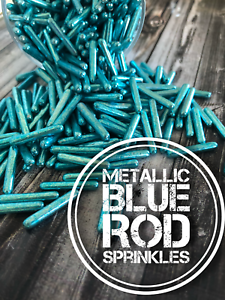 Metallic-Blue-Rods-Edible-Sprinkles-Dragees-Shiny-cake-cupcake-decoration
