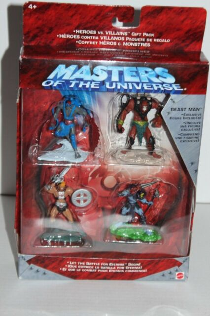 HE MAN MASTERS OF THE UNIVERSE HEROES VS VILLAINS GIFT PACK MATTEL NEW IN BOX