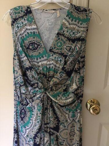 Soft Surroundings Petite Medium Paisley Maxi Dress